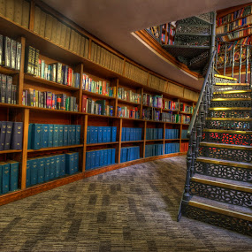 the library by Gokhan Bayraktar - Buildings & Architecture Other Interior ( libraries, interior, books, england, colourful, hdr, liverpool, liverpoolcentrallibrary )