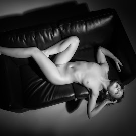 Black and Ivory by John McNairn - Nudes & Boudoir Artistic Nude ( studio, model, girl, nude, monochrome )