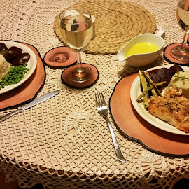 Salmon Dinner at Home by Ingrid Anderson-Riley - Instagram & Mobile Android