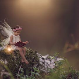 Believe  by Stephanie Stafford - Digital Art People ( lantern, magic, macical, dream, fairy, portraits )