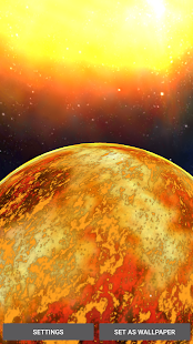 3D Space Planets LWP- screenshot thumbnail