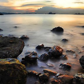 Light Stone by Echi Amenk Fariza - Landscapes Waterscapes
