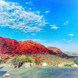 Red Rock Canyon  by Andreja Svenšek - Landscapes Deserts ( las vegas, red, desert, sunset, nevada, red rock, summer, canyon, view, landscape, rocks, sightseeing )