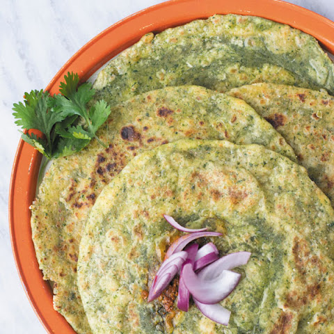 Palak Paneer Paratha - Indian Spinach Cheese Flatbread