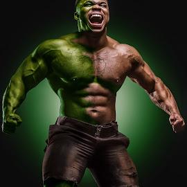 The Hulk in Me by Pieter Pieters - People Body Art/Tattoos ( fitness, comic market, human )