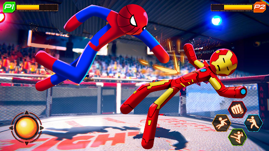 Spider Stickman Fighting 2020: Wrestling Games