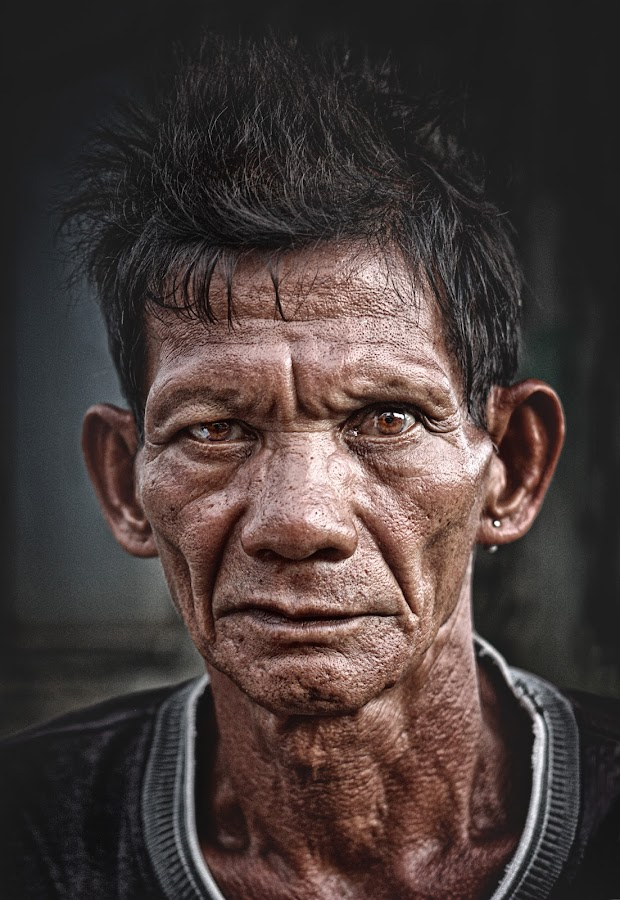 The eyes of a Cobbler by Henry  Doctolero - People Portraits of Men ( cobbler worker pinoy filipino asia asian, senior citizen,  )