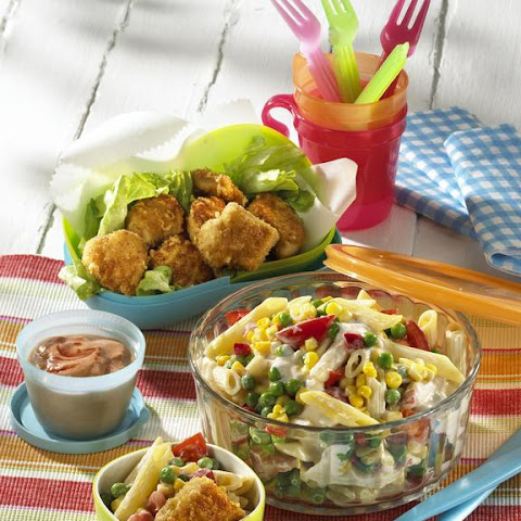 Chicken Nuggets with Pasta Salad