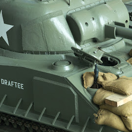 Draftee by Michael McMurray - Transportation Other ( history, world war ii, vehicle, armor, sherman tank, armored, historical, us army, tank, draftee, military )