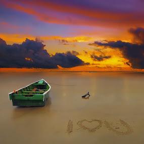 I Love You by IkanHiu Pegel Pegel - Landscapes Sunsets & Sunrises ( ihpp, ikanhiupegelpegel )