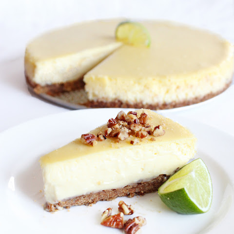 Lime Curd Cheesecake with Pecan Graham Cracker Crust