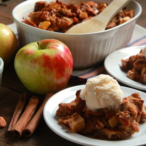 Caramel Apple Butterscotch Bread Pudding