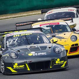 When cars go to war by Jiri Cetkovsky - Sports & Fitness Motorsports ( brno, porschee, cars, motorsport, race, duel )
