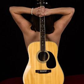 Country Girl Guitar by Sky Sexton - Nudes & Boudoir Boudoir ( boudoir )