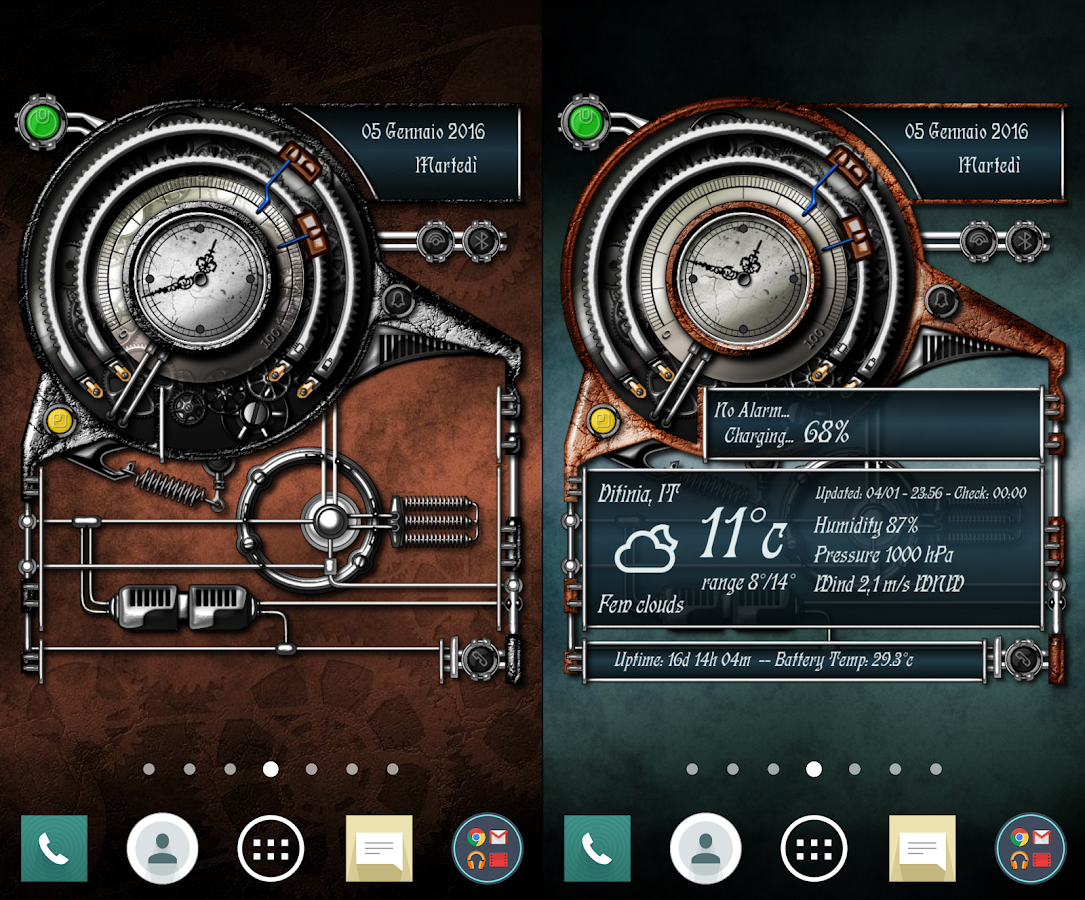 XtraOClock Steampunk Widget Screenshot 4