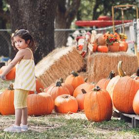 Pumpkin Love by Habashy Photography - Babies & Children Children Candids ( love, autumn, pumpkin, fall, october, kid )