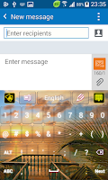 Screenshot of Tropical Keyboard