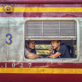 3rd Class by Ossa Pratama - Transportation Trains ( canon, frame, thailand, train, human interest )
