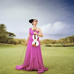 Azhalea the violinist by Hirza Kini - People Fashion ( ir model fashion )