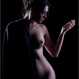 Purple hang by Clifford Els - Nudes & Boudoir Artistic Nude