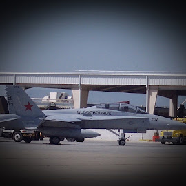F-18 on the move by Sandy Stevens Krassinger - Transportation Airplanes ( f-18, airplanes, united states navy, transportation, jet )