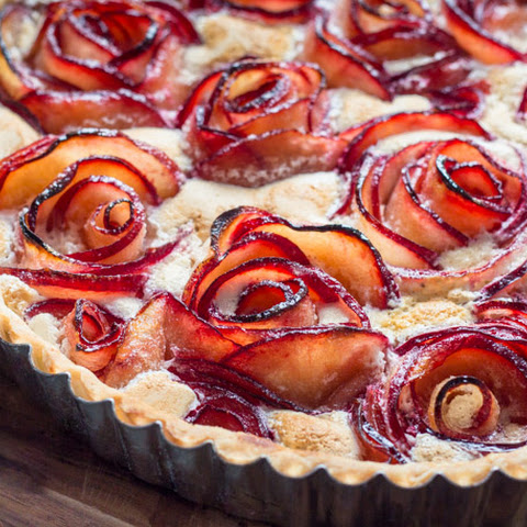 Pluot Meringue Tart