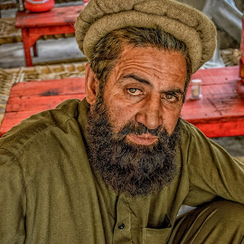 Comfort Zone by Fateen Younis - People Portraits of Men ( cap, beard, traditional, local, people, man, portrait )