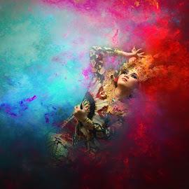 Bali Dancer by Andy Penyu - Digital Art People ( #bali_dancer #bali_culture #andy_penyu #real_art #fantasy )