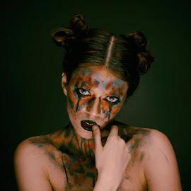 Body Art by Rajat Sethi - People Body Art/Tattoos ( #bodyart #tatoos #model #studiophotography #gothic #gothicphotography )
