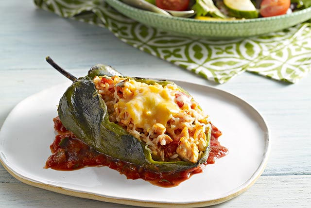 Stuffed Poblano Peppers (Chiles Rellenos) Recipe | Yummly