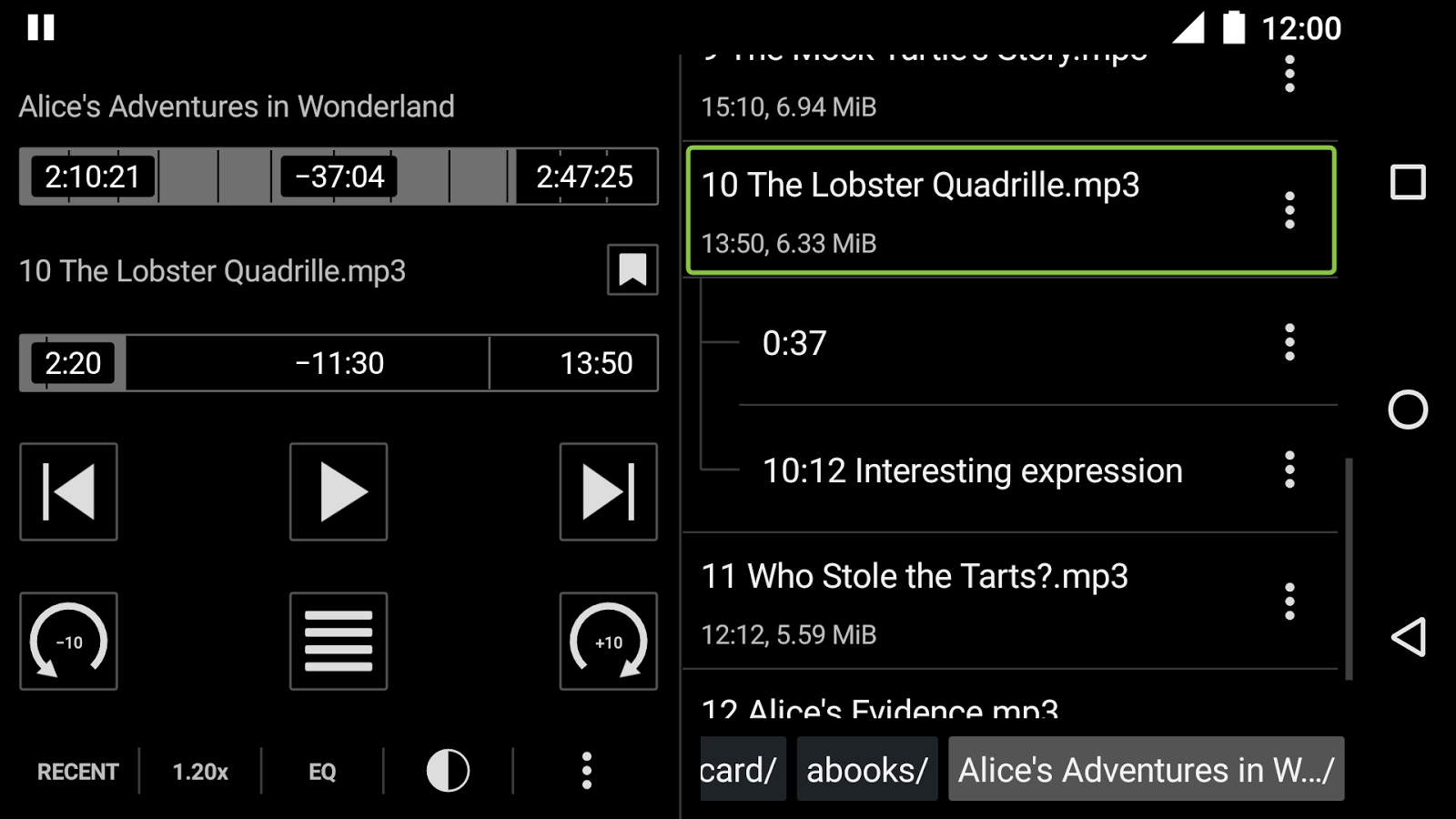 Simple Audiobook Player Screenshot 3