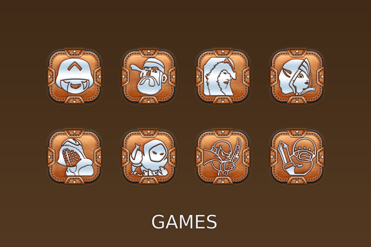 Leather Pouch-Icon Pack Screenshot 16