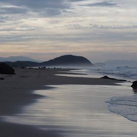 Blue Beach by Lori Fix - Landscapes Beaches