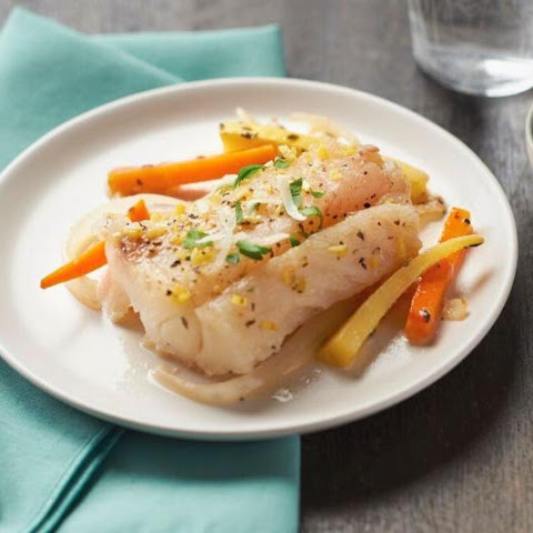 Poached Lemon Cod