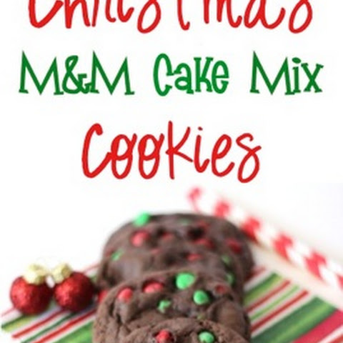 Christmas M&M Cake Mix Cookies