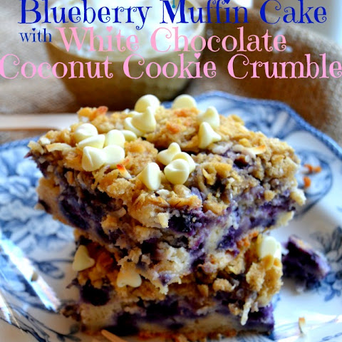 Blueberry Muffin Cake with Coconut Cookie Crumble {Wish Me Luck!!}