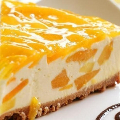 Peach Cheese Cake Without Baking