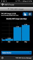 Screenshot of TWC WiFi Finder