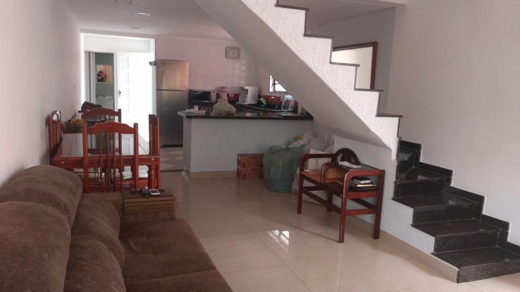 Casa com 3 dormitórios à venda, 82 m² por R$ 392.000 - Parque Bitaru - São Vicente/SP