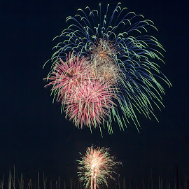 Geelong FIreworks by Madhujith Venkatakrishna - Abstract Fire & Fireworks
