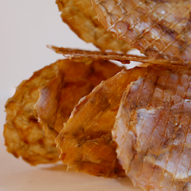 Fish Stack 19 by Dan Blair - Food & Drink Meats & Cheeses ( tower, asian food, dried, food, fish, stack, asian, dried fish )