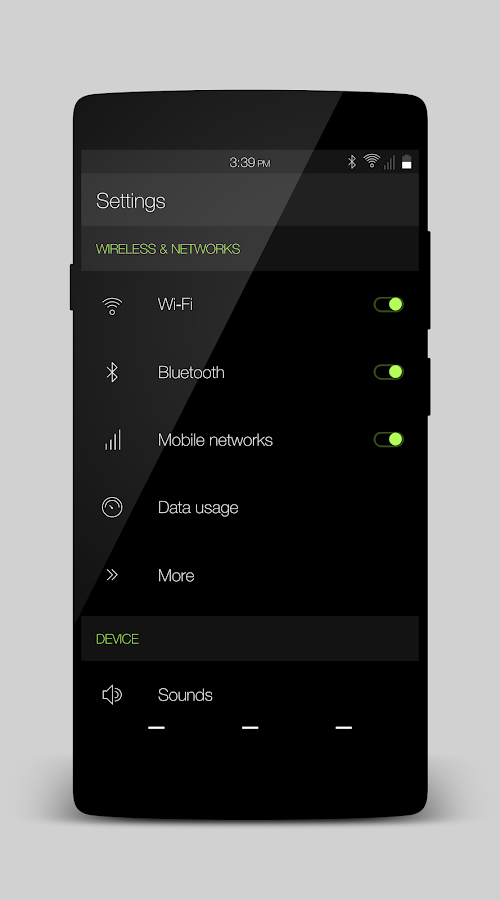 Volt - Layers Theme Screenshot 3