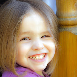 IZZY by Jennifer  Loper  - Babies & Children Child Portraits ( girl, purple dress, three, pretty, outside,  )