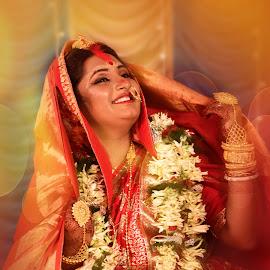 by Biswajit Mukherjee - Wedding Bride ( kolkata wedding photography, wedding, kolkata, bengali, bride, culture )