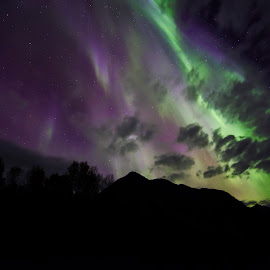 Color light by Jens Andre Mehammer Birkeland - Landscapes Mountains & Hills ( clouds, sky, mountain, color, colors, aurora, aurora borealis )