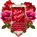Red Rose Petals Romantic Keyboard Theme Icon