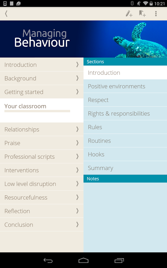 Managing Behaviour Screenshot 15