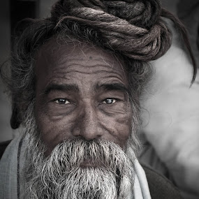 Hindu Sadhu by Shikhar Sharma - People Portraits of Men