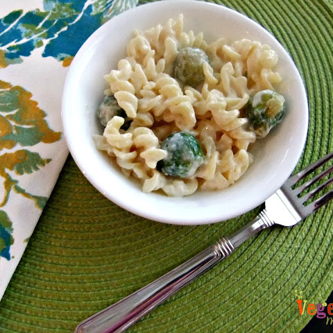 Mac and Cheese with Brussels – #glutenfree #vegan
