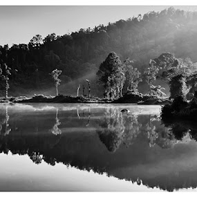 Situ Gunung by Aji Patria - Landscapes Mountains & Hills ( hills, mountains, bw, pwcbwlandscapes, landscape )